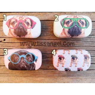 Pug Dog Contact Lenses Case