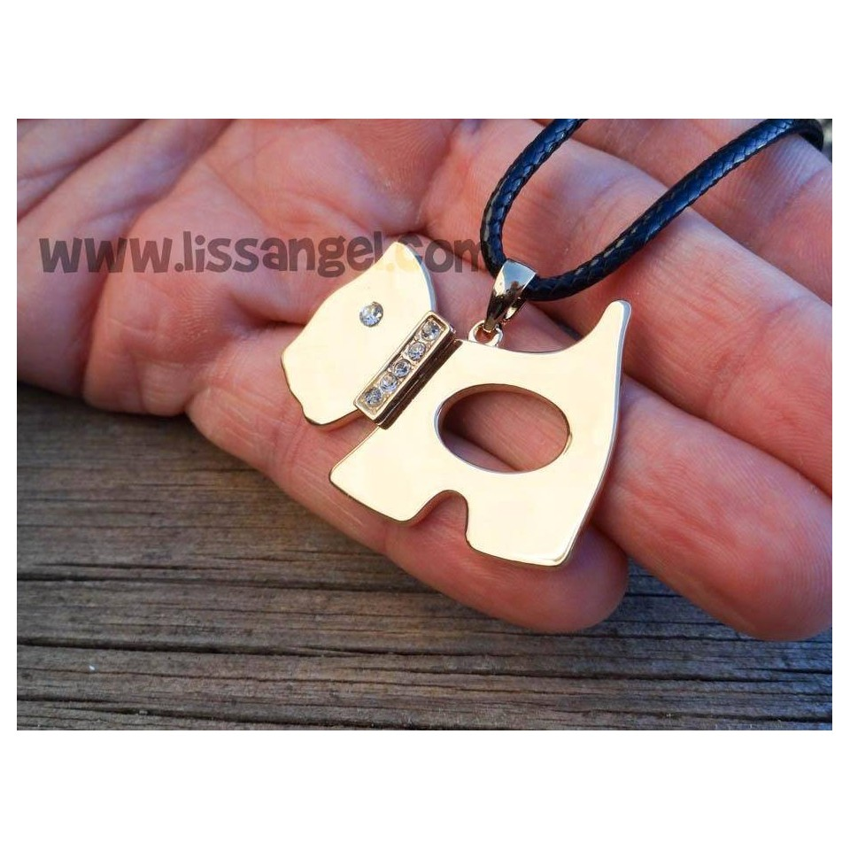 Westie Dog Pendant Necklace