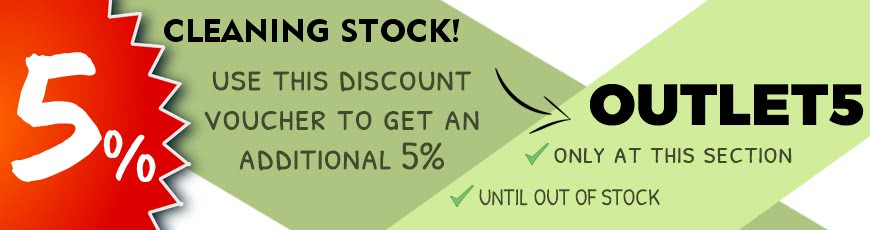 Help us to empty our warehouse! An aditional discount for you!