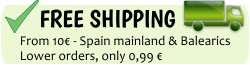 FREE shipping to Spain on all products!