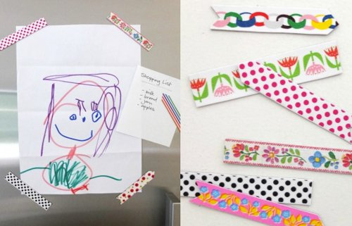 Fabrica imanes con washi tapes