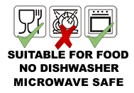 SUITABLE FOR MICROWAVE, NOT FOR DISHWASHER